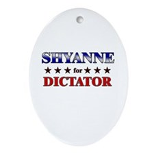 SHYANNE for dictator Oval Ornament