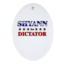 SHYANN for dictator Oval Ornament