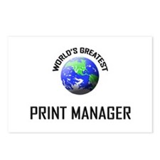 World's Greatest PRINT MANAGER Postcards (Package
