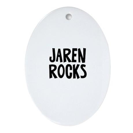 Jaren Rocks Oval Ornament