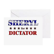 SHERYL for dictator Greeting Card
