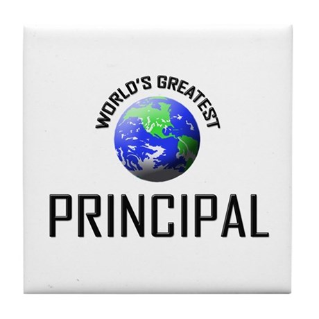 World's Greatest PRINCIPAL Tile Coaster