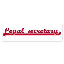 Legal secretary (sporty red) Bumper Bumper Sticker