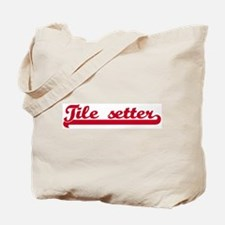 Tile setter (sporty red) Tote Bag