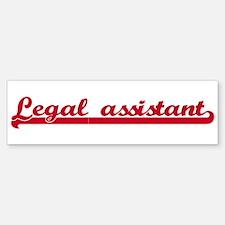 Legal assistant (sporty red) Bumper Bumper Bumper Sticker