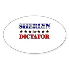 SHERLYN for dictator Oval Decal