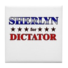 SHERLYN for dictator Tile Coaster