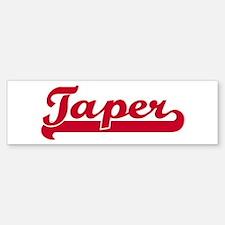 Taper (sporty red) Bumper Bumper Bumper Sticker