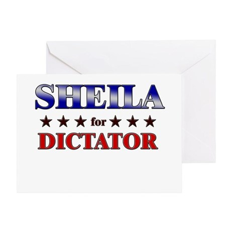 SHEILA for dictator Greeting Card