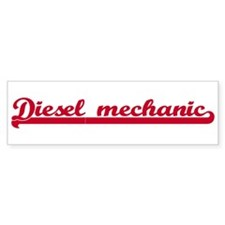 Diesel mechanic (sporty red) Bumper Bumper Sticker