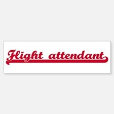 Flight attendant (sporty red) Bumper Bumper Bumper Sticker