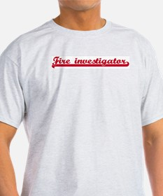 Fire investigator (sporty red T-Shirt