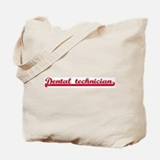 Dental technician (sporty red Tote Bag