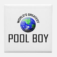 World's Greatest POOL BOY Tile Coaster