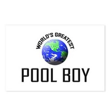 World's Greatest POOL BOY Postcards (Package of 8)