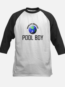 World's Greatest POOL BOY Kids Baseball Jersey