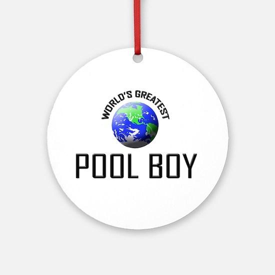 World's Greatest POOL BOY Ornament (Round)