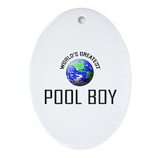 World's Greatest POOL BOY Oval Ornament