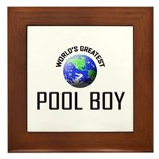 World's Greatest POOL BOY Framed Tile