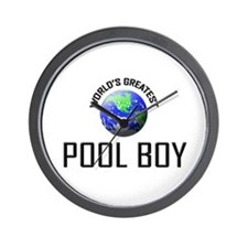 World's Greatest POOL BOY Wall Clock