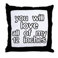 12 Inches Of Fun Throw Pillow