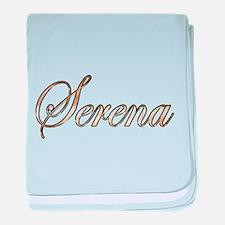 Gold Serena baby blanket