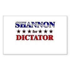 SHANNON for dictator Rectangle Decal