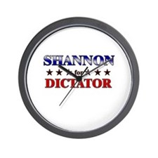 SHANNON for dictator Wall Clock