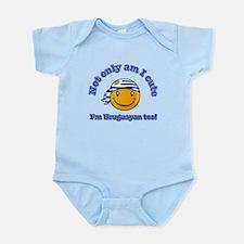 Not only am I cute I'm Uruguayan too Infant Bodysu
