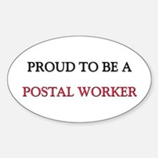 Proud to be a Postal Worker Rectangle Decal