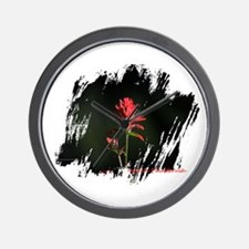 Indian Paintbrush Wall Clock
