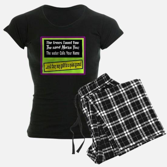 Golf-A Quiet Game Pajamas