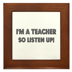 Strict Teacher Framed Tile
