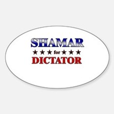 SHAMAR for dictator Oval Decal