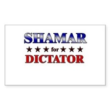 SHAMAR for dictator Rectangle Decal