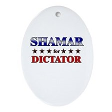 SHAMAR for dictator Oval Ornament