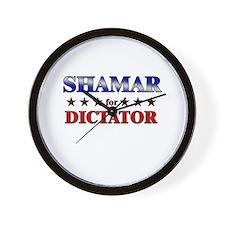 SHAMAR for dictator Wall Clock