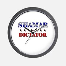 SHAMAR for dictator Wall Clock