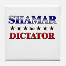 SHAMAR for dictator Tile Coaster