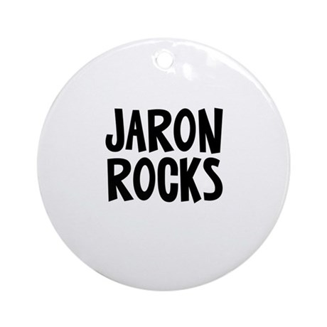 Jaron Rocks Ornament (Round)