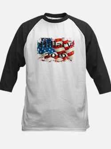 Hillary 2016 US Flag Baseball Jersey