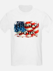 Hillary 2016 US Flag T-Shirt