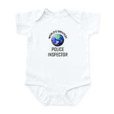 World's Greatest POLICE INSPECTOR Infant Bodysuit