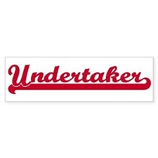 Undertaker (sporty red) Bumper Bumper Sticker