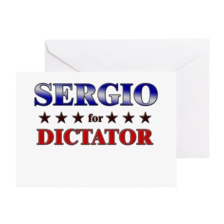SERGIO for dictator Greeting Card