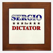 SERGIO for dictator Framed Tile