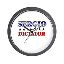 SERGIO for dictator Wall Clock