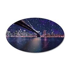 Spacey Manhattan Skyline Wall Decal