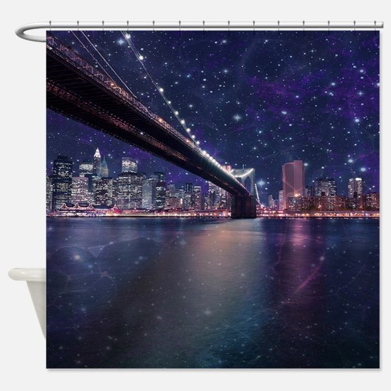 Spacey Manhattan Skyline Shower Curtain