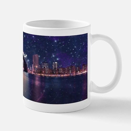 Spacey Manhattan Skyline Mugs